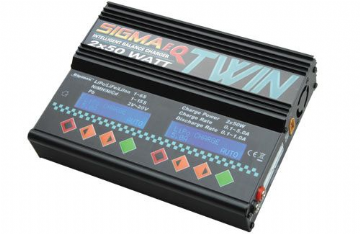 Ripmax Sigma EQ Twin AC/DC Charger (2x 50W) O-IP3057
